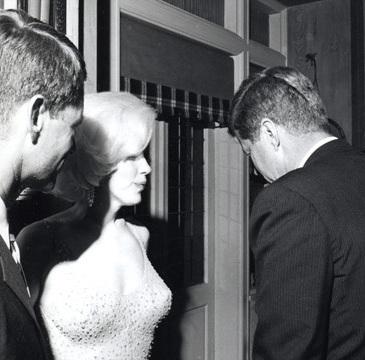 Marilyn Monroe und JFK.