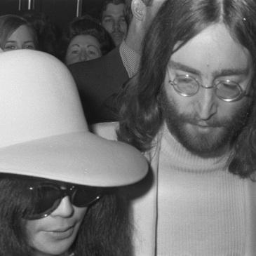John und Yoko in Amsterdam.