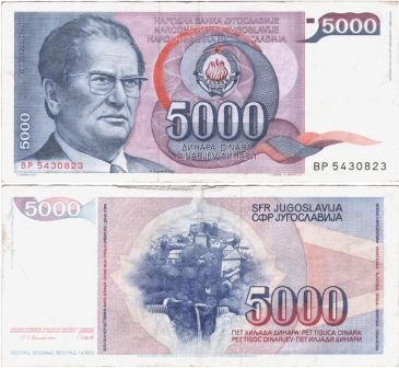 Tito-Banknote.