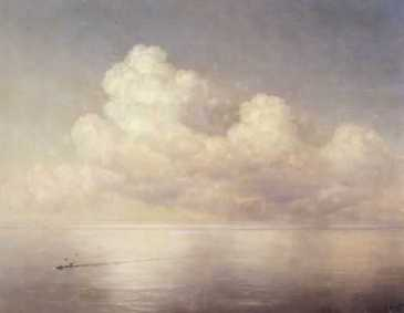 Aiwasowskij-Wolken über dem Meer