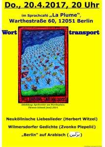 Worttransport 20.4. Café Plume