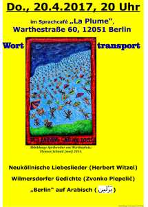 Worttransport 20.4. Café Plume
